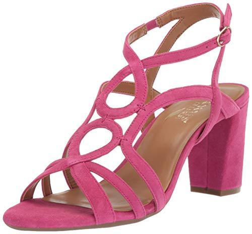 Aerosoles Women's Early Bird Heeled Sandal, Pink Suede, 9.5 M - Sandals Pink Aerosoles