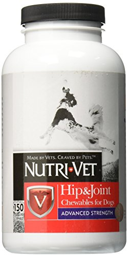 Nutri-Vet Hip & Joint Chewable for Dogs, Advanced Strength 150 - Chewable Nutri Vitamins