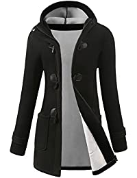 05a7344dc68 Womens Winter Fashion Outdoor Warm Wool Blended Classic Pea Coat Jacket  (FBA)