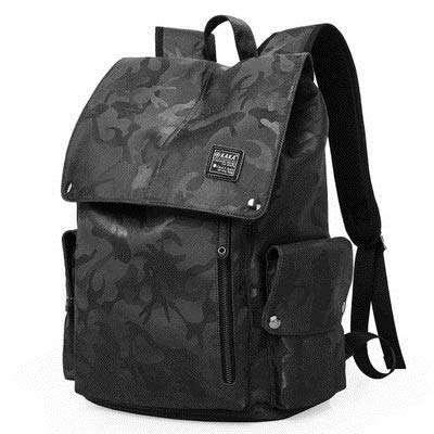 YZBB Männer Koreanische Version, Einfache Mode-Trend-Pack, Freizeit Reisen Camouflage High School Student Tasche Schüler