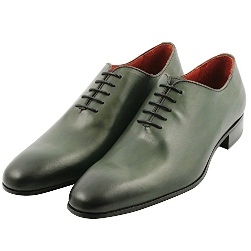 Exclusif Paris - Zapatos de cordones de Otra Piel para hombre verde verde