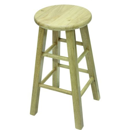"""Price comparison product image Barstool 24"""" Backless Natural Finish"""
