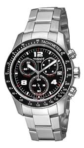 Tissot Men's T0394171105700 Tissot V8 Black Chronograph Dial Watch