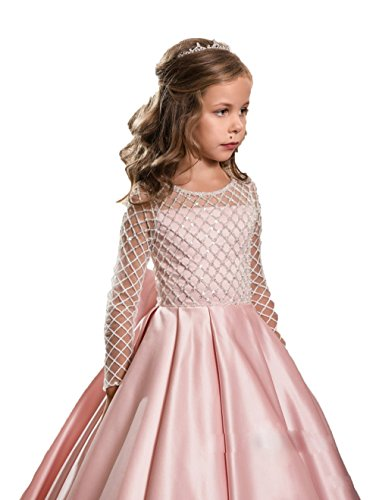 Nina Blusher Flower Girl Dresses Adorable Bow Kids Party Gown Junior Girl Bridesmaid Dress (11) by Nina (Image #2)