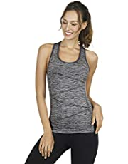 Disbest Yoga Tank Tops for Women High Performance Sport Vest Top Stretchy Moisture-Wicking Running Workout Shirt (Lavender, S UK 8, EURO 36)