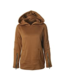 Feisen Women's Comfy Warm Hoodie Jackets Pullover Tops Blouse