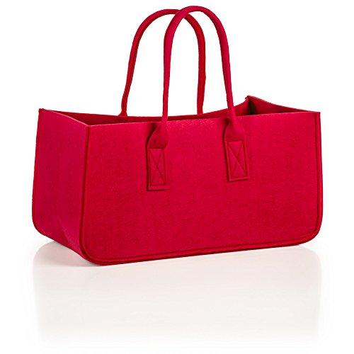 Genius Filztasche Tasche bekannt aus dem TV 51cm Farbe (schwarz) rot
