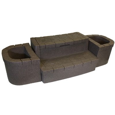 Deluxe Storage Step with Planters Color: Brownstone by AquaRest Spas