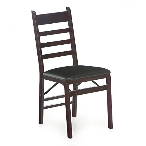 2) NEW COSCO Wood/Vinyl Commercial Folding Chair (2 Pack / Pair)