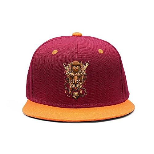 owl moose deer chain Flat Brim Street Dancing Baseball Hats