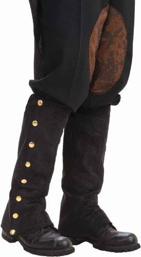 Forum Novelties Men's Adult Steampunk Suede Spats Costume Accessory, Black, One - Sale Steampunk Accessories
