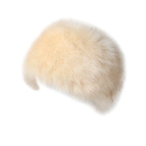 Soul Young Women's Winter Faux Fur Cossak Russian Style Hat(one size,Cream)