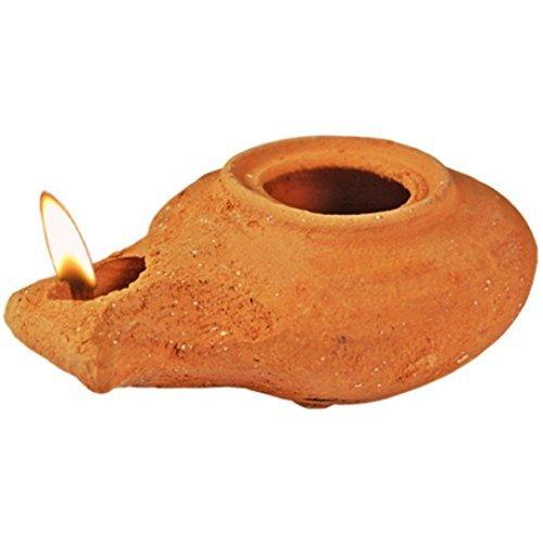 The Jerusalem Gift Shop Clay Oil Lamp - Herodian - replica by The Jerusalem Gift Shop (Image #1)