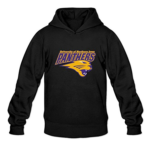 Oryxs Men's Northern Iowa Panthers Sweatshirt Hoodie XL Black