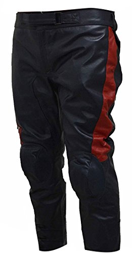 Mens Avengers Age Ultron Captain America Leather Costume Pants