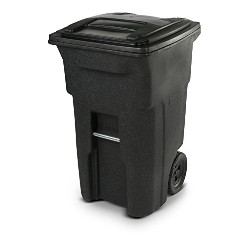 (Toter 25564-R1209 Residential Heavy Duty Two Wheeled Trash Can, Blackstone, 64 gallon)