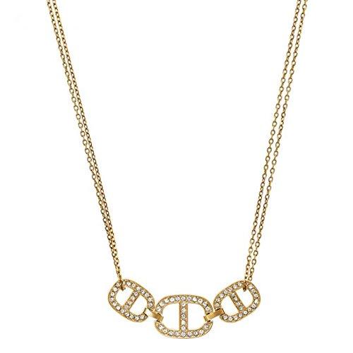 f7c853d30d0b Ladies Michael Kors PVD Gold plated Necklace MKJ4453710: Amazon.co.uk:  Jewellery