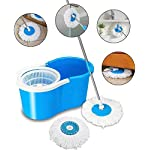 PMG Mop Floor Cleaner with Spin Bucket Mop Set Offer for Best 360 Degree Easy Magic Cleaning, WITH 1 Microfiber (Blue…