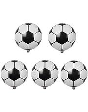 5 قطع من بالونات كرة القدم/كرة القدم المصنوعة من الرقائق المعدنية KTV لتزيين كأس العالم