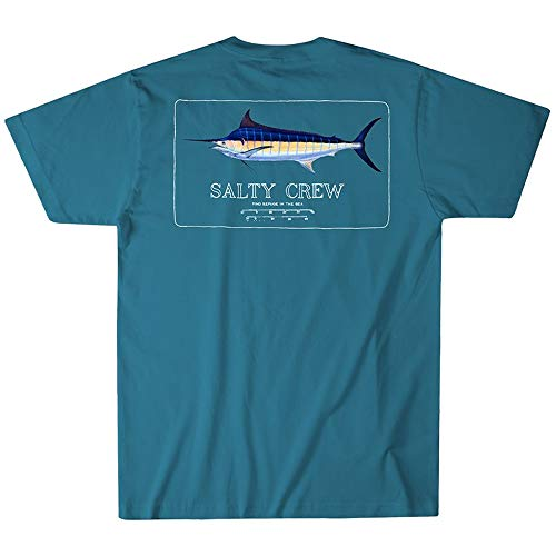 (Salty Crew Blue Rogers T-Shirt (Slate, Large))
