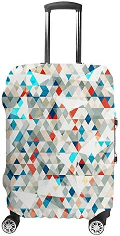 スーツケースカバー 抽象的 青いガラス 三角形 伸縮素材 キャリーバッグ お荷物カバ 保護 傷や汚れから守る ジッパー 水洗える 旅行 出張 S/M/L/XLサイズ