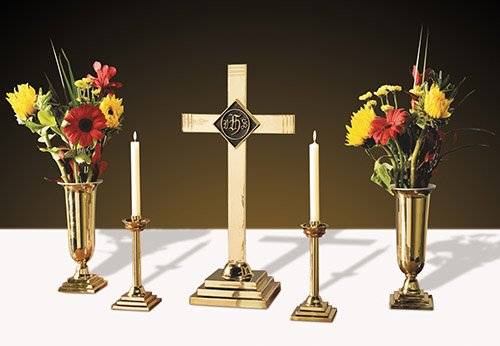 IHS Emblem Altar Set Includes KC484 KC485 and LC914 by US Gifts