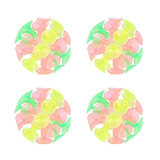 STOBOK 4pcs Fun Suction Cup Ball Colorful Ball Toys Novelty Toys for Kids Boys Girls Birthday Party Favors