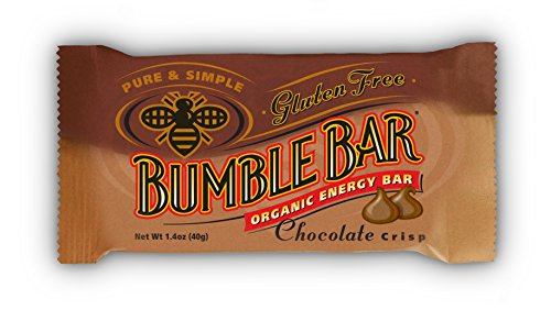 BumbleBar Gluten Free Organic Energy Chocolate Crisp, 1.4-Ounce Bars, 12-Count Box