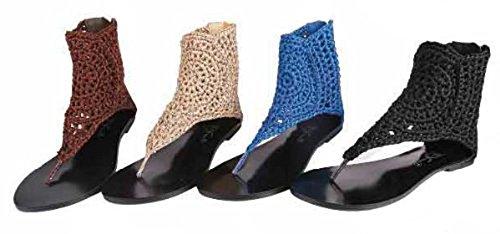 Waooh - Chaussures - Sandales ouvertes tressées - Bleu