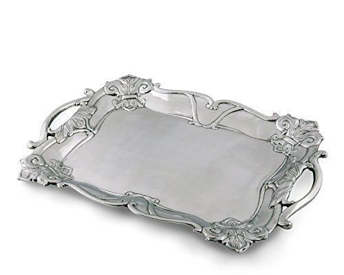 Arthur Court Designs Aluminum Fleur-De-Lis Rectangle 21