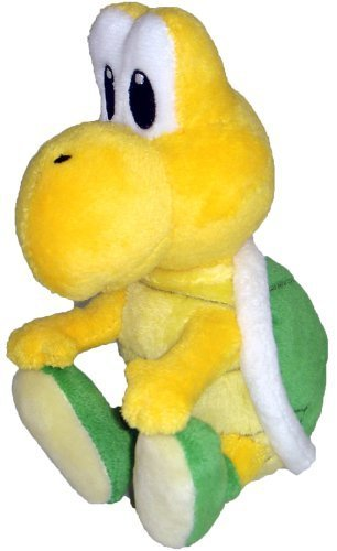 "Super Mario Plush - 5"" Koopa Troopa (Noko Noko) Soft Stuffed Plush Toy Japanese Import"