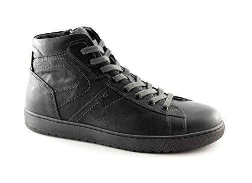 Nero Giardini Black Gardens 4360 Grau Herrenschuhe Mitte Sportlichen Reißverschluss Schnürsenkel Sneaker Grigio