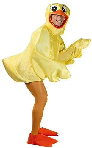 Adult Rubber Duck Duckling Easter Bird Chick Novelty Stag Do Funny Fancy Dress Costume Outfit (Large) Yellow]()