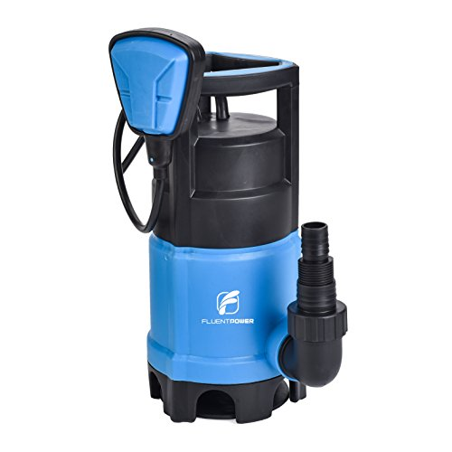 FLUENTPOWER 3/4 HP Sump Pump with Max Flow 3300 GPH for Dirty/Clean Submersible Water Pump with Revocable Function of Float Switch, Included 1