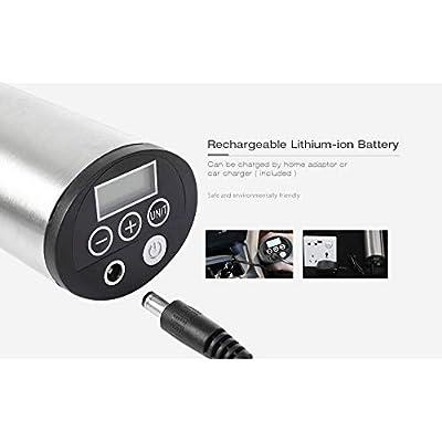 Produits de bicyclette populaires Gonfleur d'air électrique rechargeable portatif intelligent de 150 psi avec la pression de pneu à affichage numérique pour la balle de jouet de voiture de vélo Sports et Loisirs