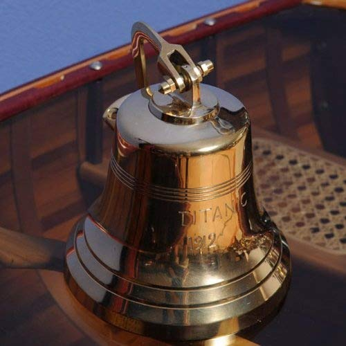 (Old Modern Handicrafts Titanic Ship Bell, 6-Inch)