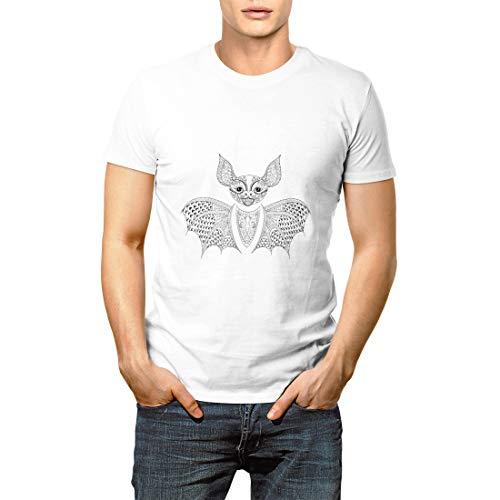 Vividesign Zentangle Bat Totem for Adult Anti Stress Coloring Page Men's Short Sleeve T-Shirt]()