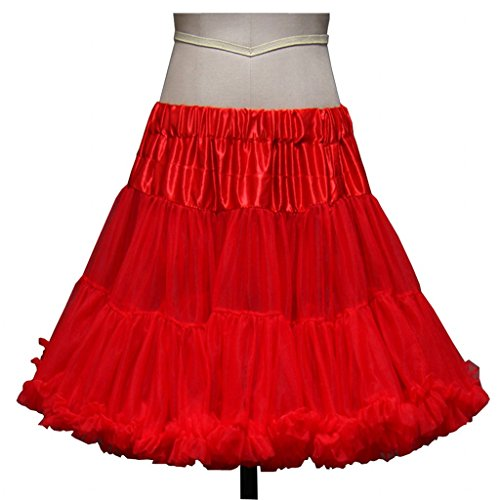Burlesque Dance Costumes (Chady Womens 50s Vintage Rockabilly Net Petticoat Skirt Tutu)