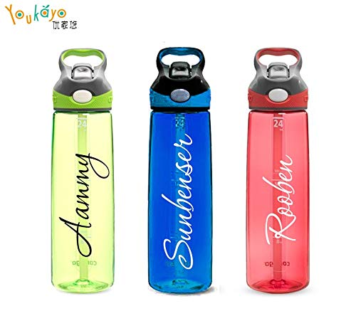 (PPL21 Wall Stickers - Font Personalized/Custom Name Vinyl Decal Sticker for Bottle/Netbook / Wall car/Truck Laptop/Netbook Window 1 PCs)