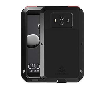 Carcasa para Huawei Mate 10, resistente al agua, a prueba de golpes, a prueba de nieve, de aluminio y metal, con cristal Gorilla Glass para Huawei ...