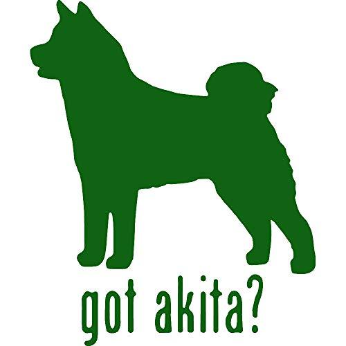 - NBFU DECALS Animal GOT Akita Dog 2 (Green) (Set of 2) Premium Waterproof Vinyl Decal Stickers for Laptop Phone Accessory Helmet CAR Window Bumper Mug Tuber Cup Door Wall Decoration