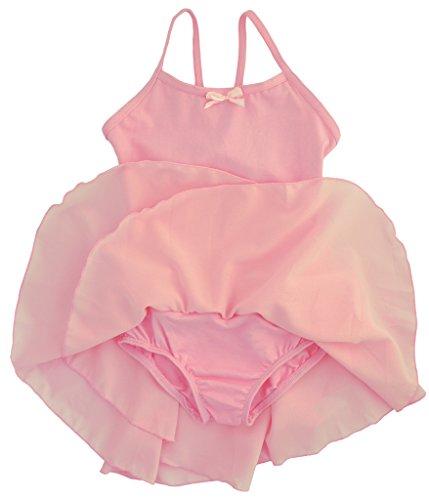 Dancina-Girls-Leotard-Dress-Classic-Camisole-Ballet-Cotton-with-Chiffon-Skirt