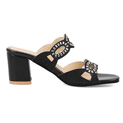 Talons Fashion Femmes VulusValas Hauts Mules Black awCxSTqE