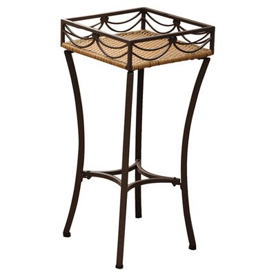 Valencia Resin Wicker/Steel Square Plant Stand ()