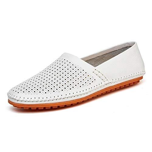 Transpirable los Zapatos Cuero Casuales Mocasines