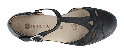 Rieker Womens Remonte, D1908 Slip On Shoes Nero