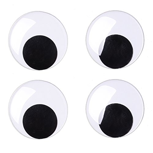 Sunmns 3 Inches Giant Wiggle Eyes with Self Adhesive, 4 Pack -