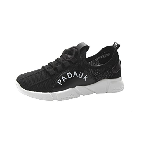 VEMOW Sports Outdoor Shoes for Women, Trainers Mary Janes Cute Lace-up Flats Flip Flops Thongs Espadrilles Wedge Running Walking Dance, Stretch Fabric Cross Tied Casual Gym Shoes Black