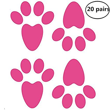 photograph relating to Printable Easter Bunny Footprints referred to as Rabbit Footprints Clipart