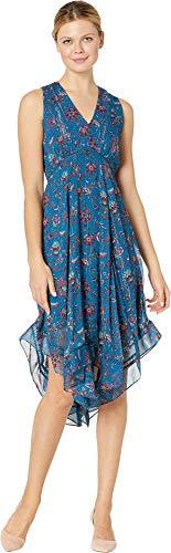 Chiffon Handkerchief Dress - Taylor Women's Sleeveless Chiffon Floral Midi